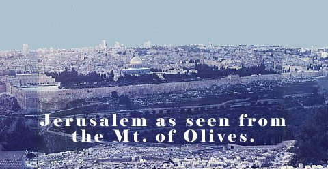 Photo of Jerusalem-as seen from the Mt. of Olives.
